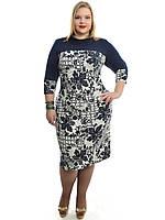 Модное женское платье,размеры 48-62,модель ДК 546, фото 1