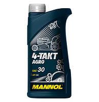 Масло для четырехтактных двигателей садовой техники 4-TAKT AGRO SAE 30 1л.