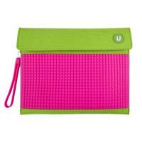 Клатч для планшета Upixel-Зелено-малиновый