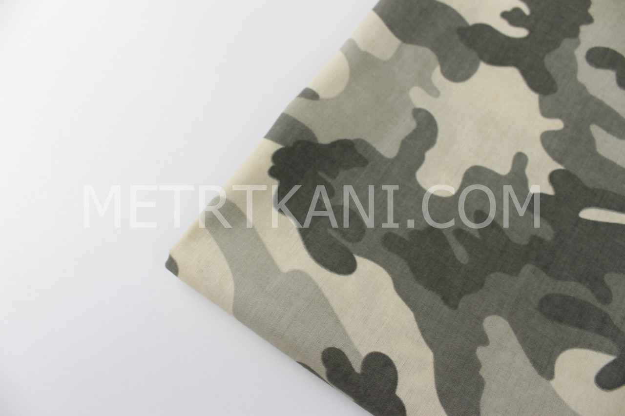 Клаптик. Бавовняна тканина камуфляж колір хакі №614, 88*160 см