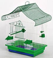 Клітка для папуги Мини1 фарба 330х230х450 мм різні кольори