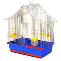 Клітка для папуги Аліса (470х300х540) мм цинк різні кольори