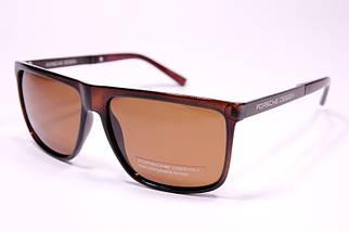 Мужские солнцезащитные очки Порше P05502 C3 реплика Коричневые с поляризацией