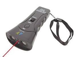 Ультразвуковий Потужний відлякувач собак (2 голівки) з світлодіодом і лазером