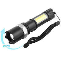 Тактичний ліхтарик POLICE 8626C-XPE+COB, 1х18650, ЗУ microUSB, zoom