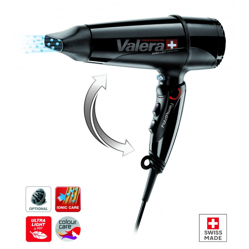 Фен професійний Valera Swiss Light 5400 FOLD AWAY Ionic Tourmaline SL5400T