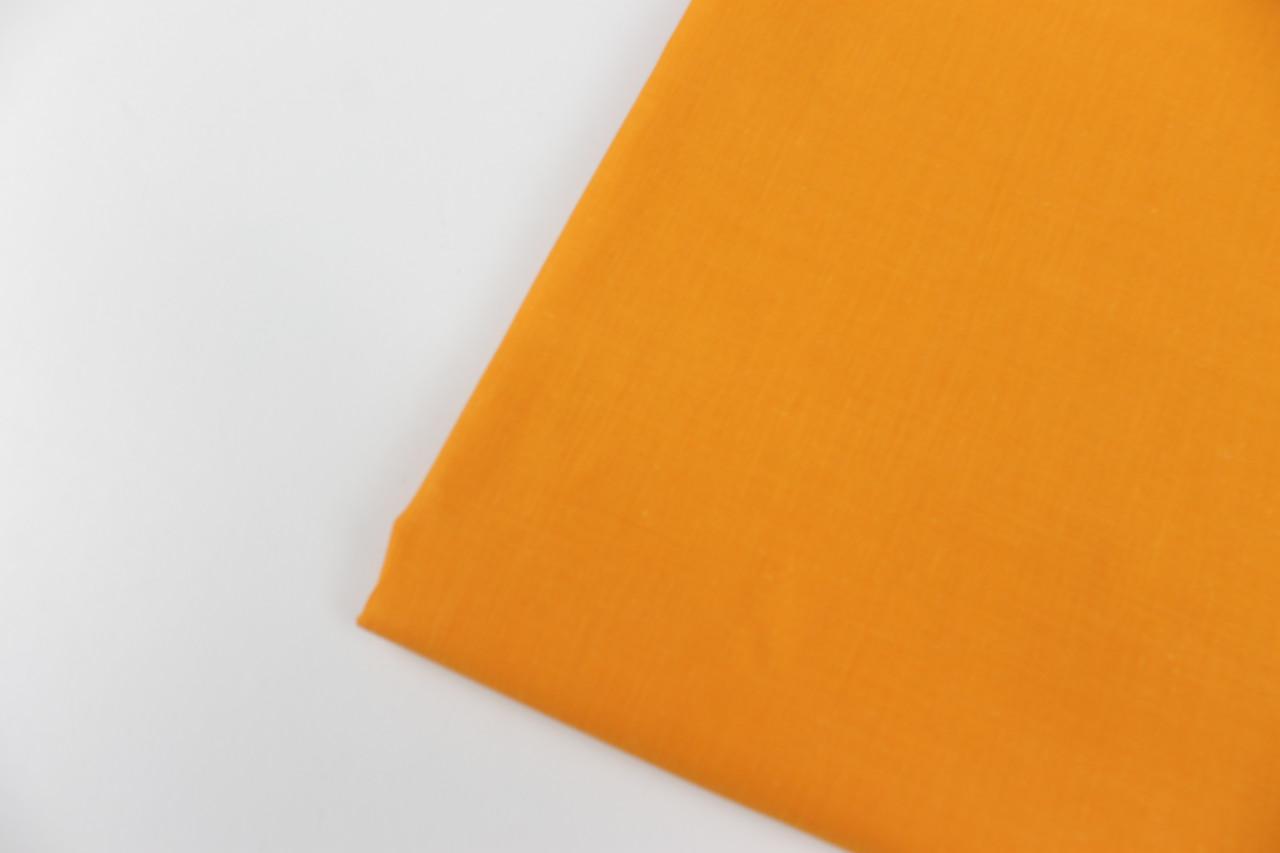 Лоскуток. Бязь постельная рыжего цвета, ширина 220 см 135 г/кв., 55*220 см
