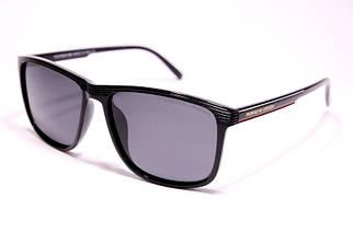 Мужские солнцезащитные очки Порше P1048 C1 реплика Черные с поляризацией