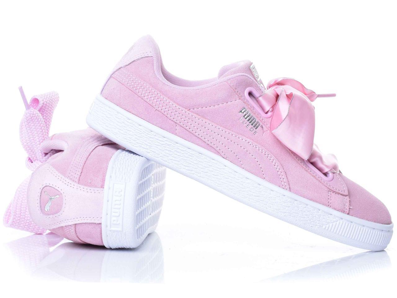 Кеди жіночі Puma Suede Heart Galaxy рожеві 369232-01