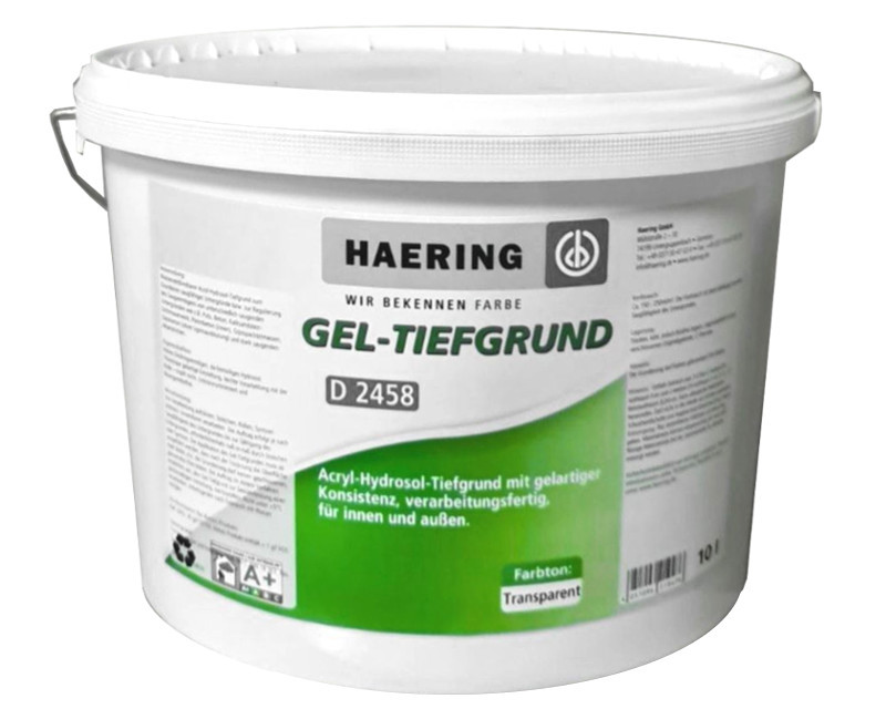 Грунтовка-гель  HAERING GEL-TIEFGRUND D 2458 влагоизоляционная 10л