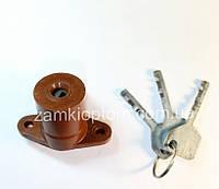 Цилиндр гаражного замка на два ключа