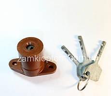 Цилиндр гаражного замка на два ключа (карболит)