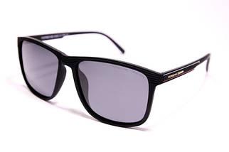 Мужские солнцезащитные матовые очки Порше P1048 C2 реплика Черные с поляризацией