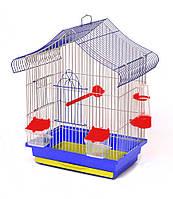 Клітка для папуги Міні 1 фарба 330х230х470 мм різні кольори