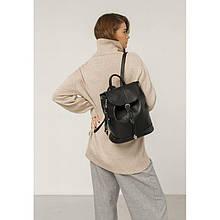 Шкіряний жіночий рюкзак Олсен чорний