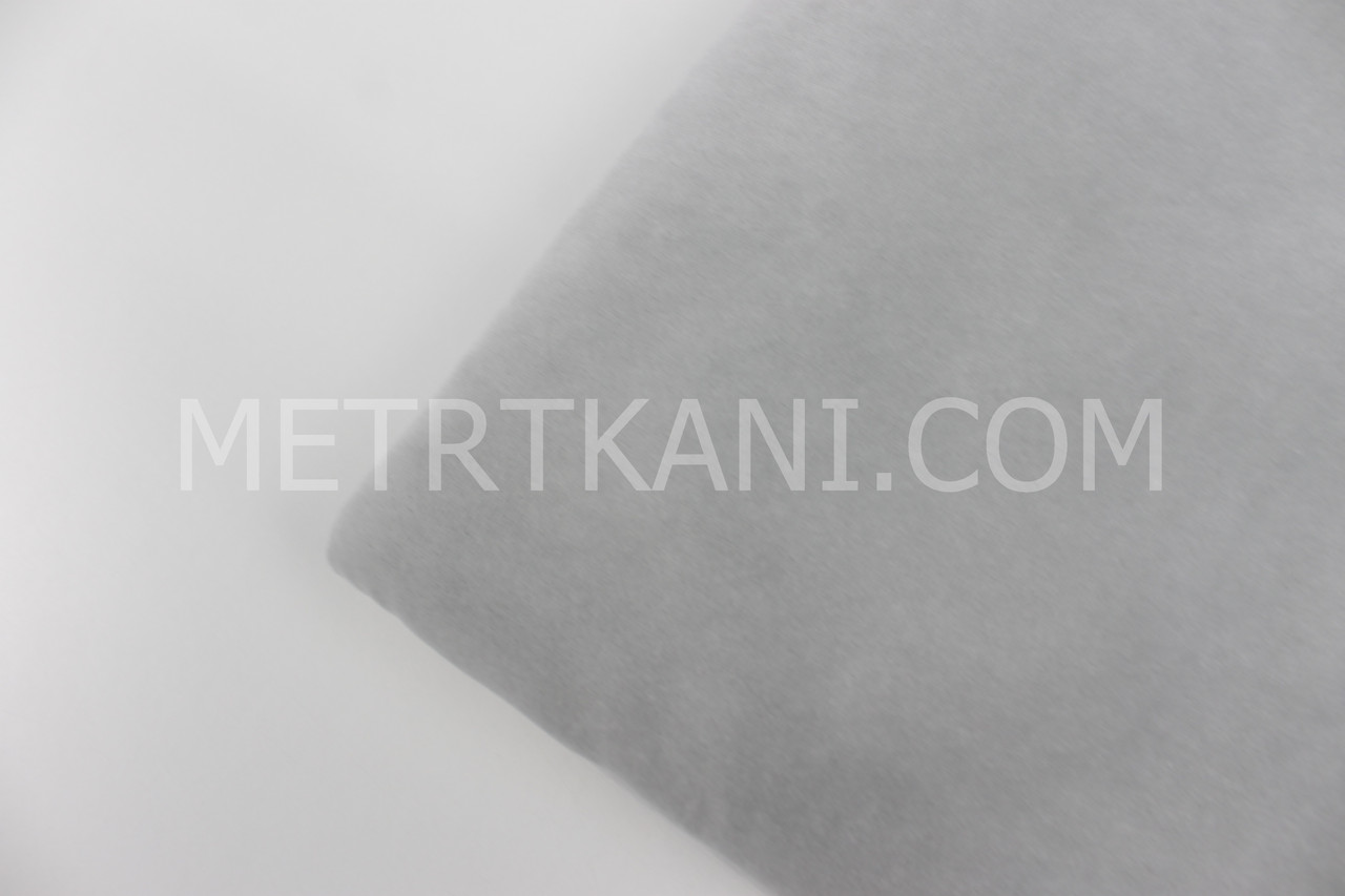 Лоскуток. Велюр х/б светло-серого цвета, 40*180  см