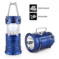 Кемпінговий ліхтар 5700T 5LED+1W, вбудований акумулятор, Power bank, сонячна батарея