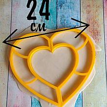 Формочка-вырубка для торта- Сердце (две разделенные вырубки)