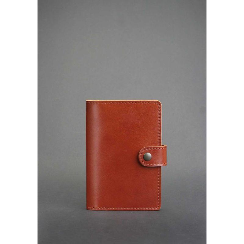 Шкіряна обкладинка для паспорта 3.0 світло-коричнева
