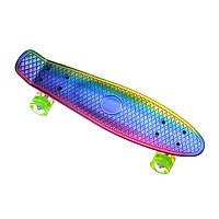 Пенниборд-скейт 26106, двосторонній забарвлення, колеса PU СВІТЯТЬСЯ