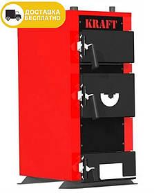 Kraft E new 12kW универсальный твердотопливный котел для дома Крафт серия Е new 12кВт