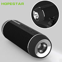 Портативная колонка HOPESTAR P11 с фонариком и  креплением для велосипеда (Bluetooth, TF, USB, AUX)