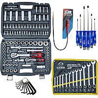 Набор инструментов 5в1 PROF(108 ед.набор Profline+ ключи 12 ед полотно+ отвертки 6 шт.+ шестигранники+ магнит)