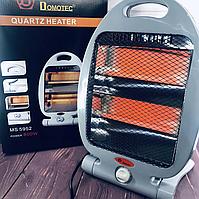 Обігрівач галогенний інфрачервоний Domotec MS-5952 / 800 Вт / 2 режиму роботи