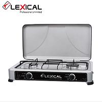 Газова плита LEXICAL LGS-2812-8 на 2 конфорки Silver 3.7 KW