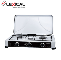 Газова плита LEXICAL LGS-2813-1 на 3 конфорки, White 4.7 KW