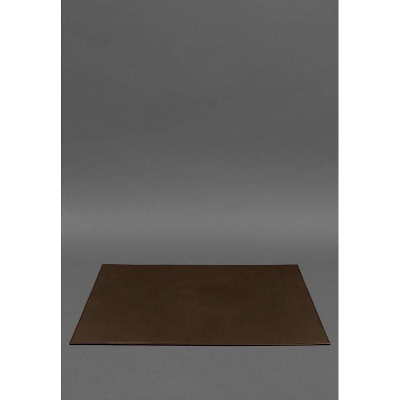 Накладка на стіл керівника - Шкіряний бювар 1.0 Шоколад