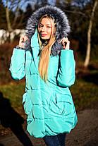 Х7065 Куртка-пальто пуховик зима , фото 3