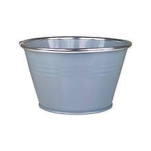 Ведерко из металла 9 х 14,5 см серый