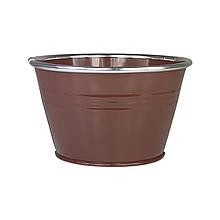Ведерко из металла 9 х 14,5 см коричневый
