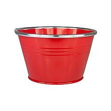 Ведерко из металла 9 х 14,5 см красный
