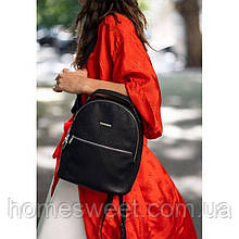 Кожаный женский мини-рюкзак Kylie черный