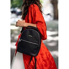 Шкіряний жіночий міні-рюкзак Kylie чорний