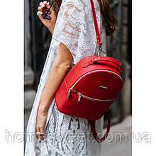 Шкіряний жіночий міні-рюкзак Kylie червоний