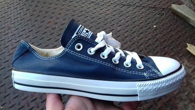 Кеди Converse All Star низькі сині фото