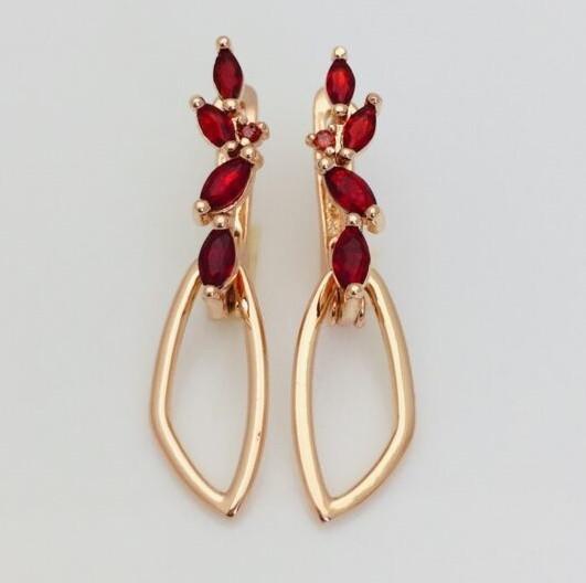 Серьги ювелирная бижутерия Fallon Jewelry, мед золото, 82202739-06 H-33 мм B-9 мм