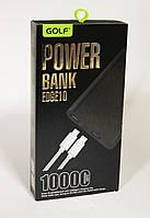 Power Bank 10000mAh GOLF Edge 10 / Портативна батарея / зовнішній акумулятор