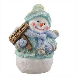 Статуэтка новогодняя Decoline Снеговик с табличкой С Новым Годом цветной (гипс) F1801-5(G)