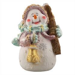 Статуэтка новогодняя Decoline Снеговик Желаю счастья цветной (гипс) F1805-5(G)