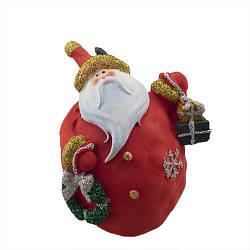 Статуэтка новогодняя Decoline Санта с подарками (мал.) (гипс) F1815(G)