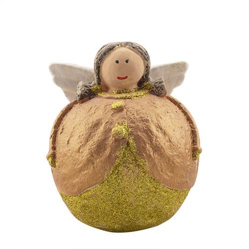 Статуетка новорічна Decoline Ангелик дівчинка (мал.) (гіпс) F1816(G)