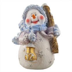 Статуэтка новогодняя Decoline Снеговик Желаю счастья  (гипс) F1805(G)