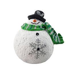 Статуэтка новогодняя Decoline Снеговик (мал.) (гипс) F1810(G)