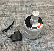 Кемпинговая лампа с крючком и АКБ и солнечной панелью SL-24 / 55