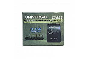 Автомобільний універсальний зарядний пристрій 12В для ноутбука SY-668 30W