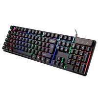 Ігрова професійна клавіатура   usb провідна комп'ютерна клавіатура CNV KR 6300 з підсвічуванням